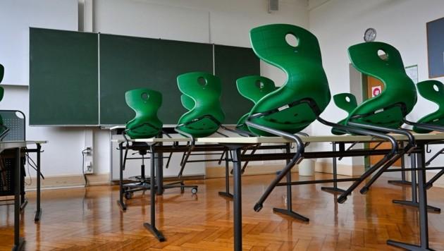 Bis September ist es noch ruhig in den Klassenzimmern. (Bild: EXPA/ Eibner/ Weber)