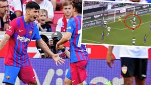 Yusuf Demir bejubelt seinen Treffer zum zwischenzeitlichen 2:0 für den FC Barcelona gegen Stuttgart. (Bild: EPA, Twitter.com/FC Barcelona)