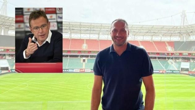 Ralf Rangnick holte Altachs Ex-Sportdirektor Christian Möckel zu Lokomotive Moskau. Inzwischen ist Möckel bereits in der russischen Hauptstadt angekommen und hat auch schon die RZD-Arena besichtigt. (Bild: Privat, Andreas Tröster)