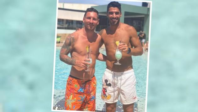 Lionel Messi (li.), Luis Suarez (Bild: Instagram.com/leomessi)