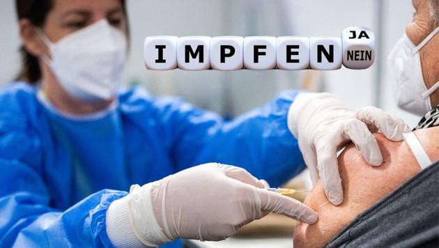 Impfpflicht? Der Bund schiebt die Verantwortung auf die Länder ab. (Bild: APA, stock.adobe.com, Krone KREATIV)