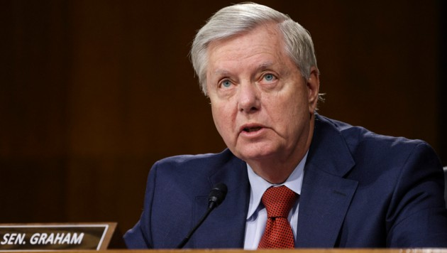 """US-Senator Lindsey Graham: """"Ohne Impfung würde ich mich sicher nicht so gut fühlen."""" (Bild: AFP)"""