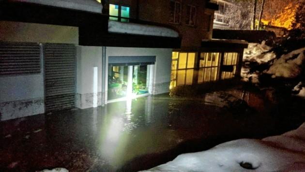 Anfang Februar 2021 musste die Feuerwehr zu Überschwemmungen in Warmbad ausrücken. (Bild: FF Judendorf)