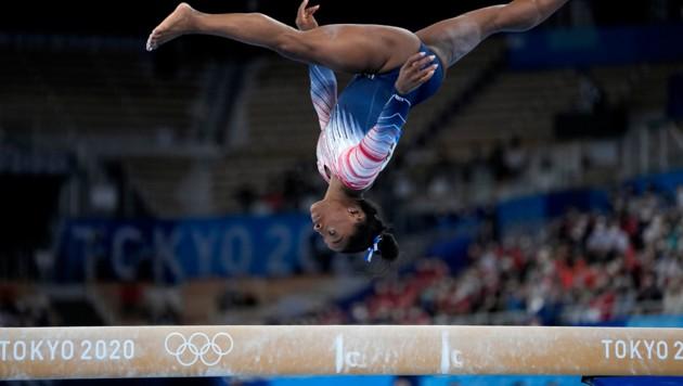 Simone Biles (Bild: AP/Ashley Landis)