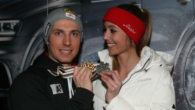 Gemeinsam feierten Marcel Hirscher und Laura Moisl unzählige Erfolge. (Bild: Christof Birbaumer)