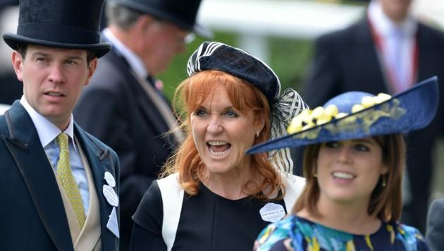 Jack Brooksbank, Sarah Ferguson, Prinzessin Eugenie (Bild: Mark Stewart / Camera Press / picturedesk.com)