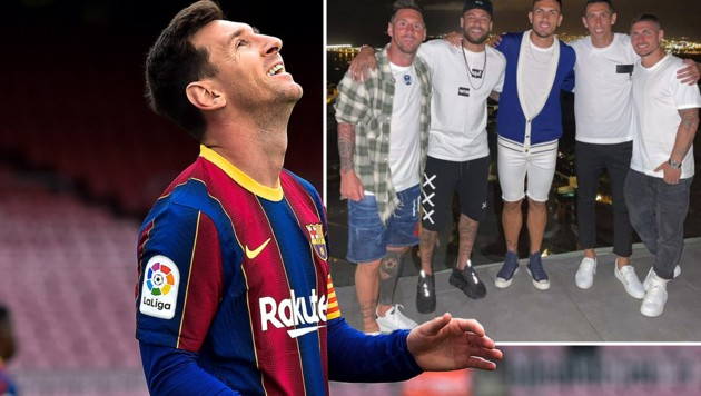 Lionel Messi (Bild: APA/AFP/Pau BARRENA, instagram.com/neymarjr)