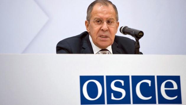 Russland (im Bild Außenminister Sergej Lawrow) im Clinch mit der OSZE (Bild: APA/AFP/VLADIMIR SIMICEK)