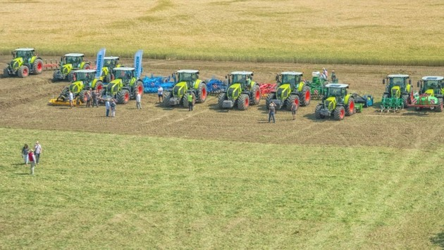 Am Areal werden modernste landwirtschaftliche Maschinen ausgestellt. (Bild: Andreas Tischler)