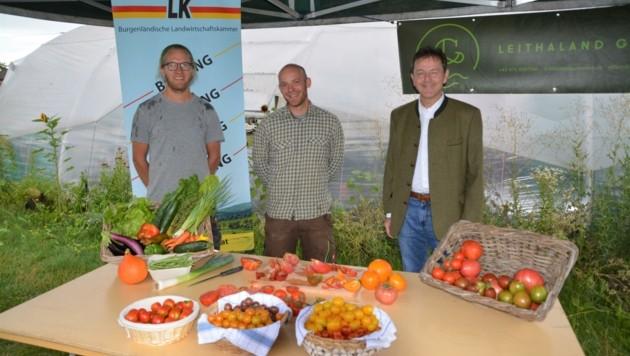 Michael Konstanzer, Andreas Graf und Landwirtschaftskammerpräsident Niki Berlakovich. (Bild: Charlotte Titz)