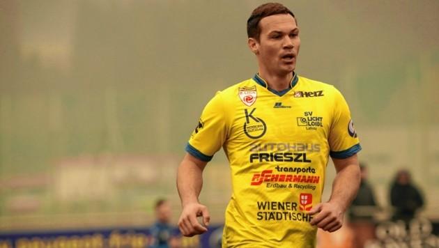 Lafnitz-Stürmer Patrick Bürger traf in der ersten Runde zum Ausgleich bei Gnas. (Bild: Sepp Pail)
