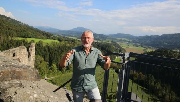 Burgverein-Obmann Jakob Koschutnig hofft auf Mithilfe (Bild: Hronek Eveline)