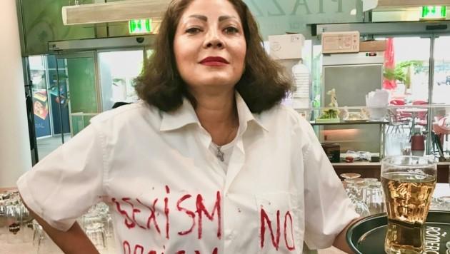 """Mariana Moser will ein Zeichen gegen Sexismus und Rassismus setzen: """"Wir dürfen nicht akzeptieren, dass Belästigungen in der Gastronomie gang und gäbe sind, um ein Bier zu verkaufen."""" (Bild: Schulter Christian)"""