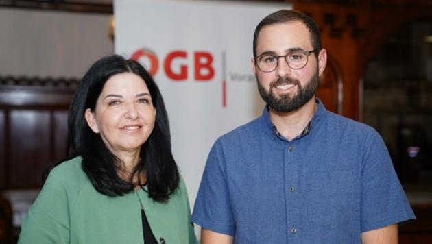 Manuela Auer und Manuel Ganahl (Bild: ÖGB)