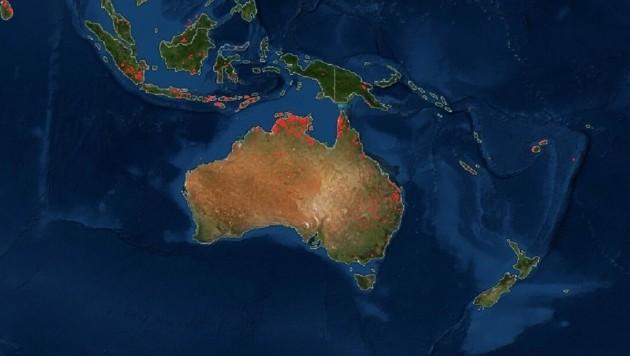 Die Feuer in Australien sind mittlerweile unter Kontrolle. (Bild: NASA)