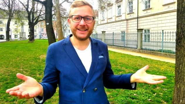 """""""Beste Partei""""-Chef David Packer hat nur noch bis morgen, Dienstag, Zeit, die Unterstützerliste für die Wahl abzugeben. (Bild: Beste Partei Oberösterreich)"""