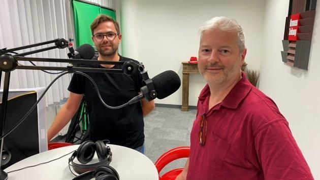 """Die Wagger Bau GmbH zu Gast im """"Krone""""-Podcaststudio (Bild: Peter Kleinrath)"""