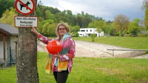 Vizebürgermeisterin Ines Mirlacher (SP) ärgert das Badeverbot. (Bild: ZVG)