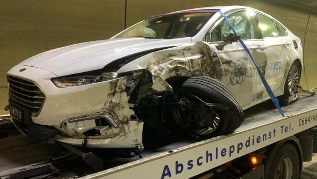 Der Pkw des Deutschen hatte größeren Schaden genommen. (Bild: Hofmeister Bernd)