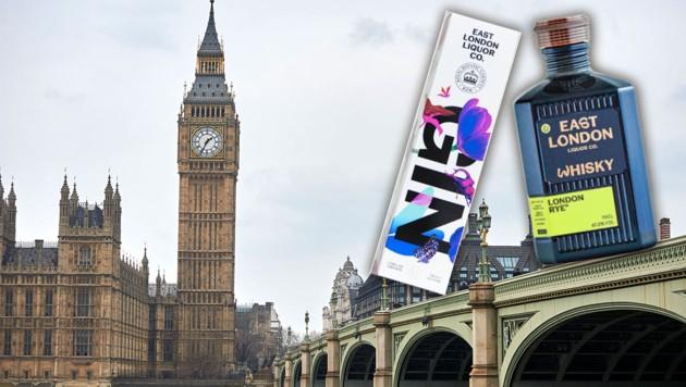 Whisky und Gin aus London werden nicht zugestellt. (Bild: AFP, East London Liquor Company,Krone KREATIV)