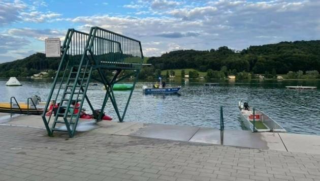Der Unfall ereignete sich im Strandbad Mattsee (Bild: Wasserrettung Mattsee)