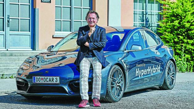 """Das Unternehmen """"Obrist Powertrain"""" stellt seit 25 Jahren CO2-neutrale Komponenten für die Automobilbranche her und hat den Hyperhybrid entwickelt. (Bild: studio22 - marcel hagen)"""