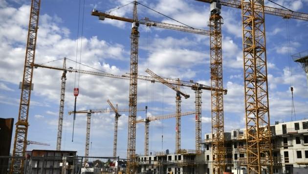 """Die """"Bauwut"""" in Wien bringt Umweltprobleme. (Bild: HARALD SCHNEIDER)"""