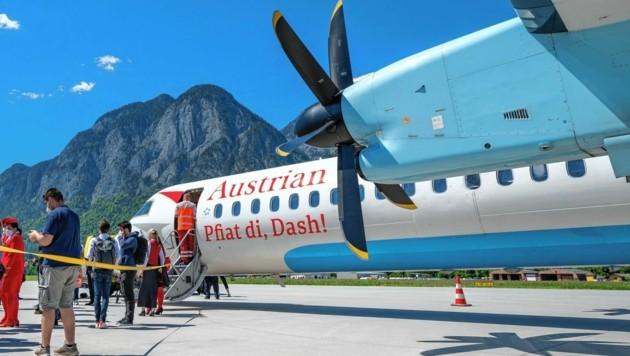 Pfiat di, Dash - aber womit wollen die ehemaligen Kapitäne der Propeller-Flugzeuge künftig fliegen? Etliche haben mehrere Angebote zur Umschulung auf moderne Jets verweigert. (Bild: Maximilian Krauss)