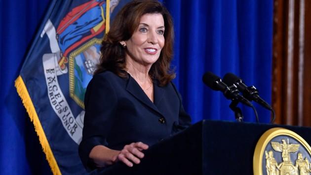 New Yorks designierte Gouverneurin Kathy Hochul (Bild: AP)