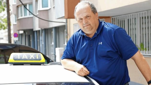 Taxiunternehmer Andreas Bürger (Bild: Klemens Groh)