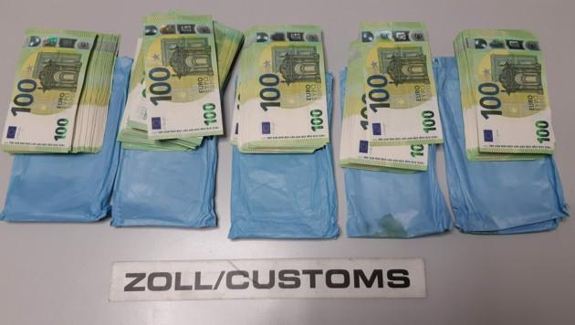 Das sichergestellte Bargeld (Bild: BMF/Zollamt)