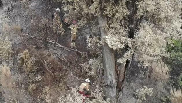 Brand-Überwachung per Drohne (Bild: LFV Tirol)