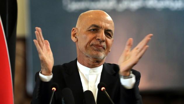 Afghanistans Präsident floh ins Ausland. Wohin ist nicht bekannt (Archivbild von März 2021). (Bild: AP)
