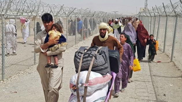 Flüchtlinge an der afghanisch-pakistanischen Grenze (Bild: -)