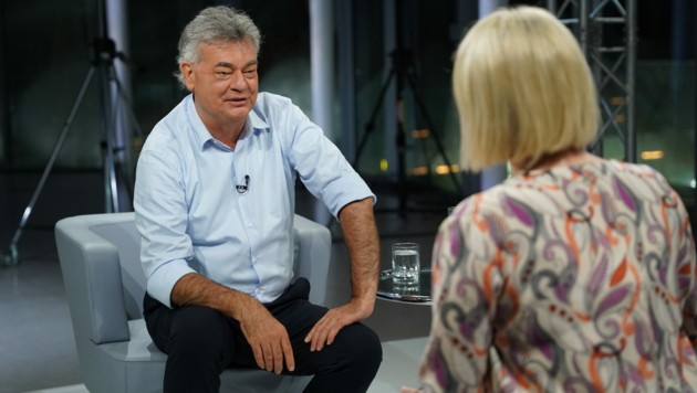 """""""Hauptsache es geht was weiter"""", meinte Kogler zur Stimmung in der Koalition. (Bild: ORF)"""