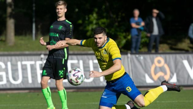 Der Goalgetter des VfB Hohenems Maurice Wunderli will auch gegen den DSV treffen. (Bild: Maurice Shourot)