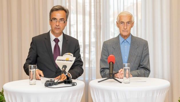Siegfried Nagl (ÖVP) und Altbürgermeister Alfred Stingl (SPÖ) (Bild: Foto Fischer)