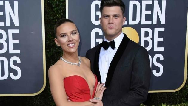 Scarlett Johansson und Colin Jost (Bild: Jordan Strauss/Invision/AP)