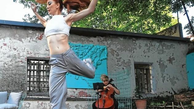 Cello & Tanz: Rosalie Wanka & Ana Topalović. (Bild: Perisutti Tina)