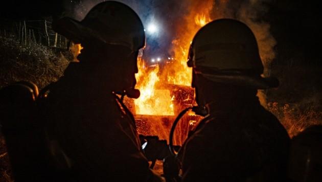 Die Florianis sind Feuer und Flamme für den Dienst am Nächsten. (Bild: Matthias Fischer)