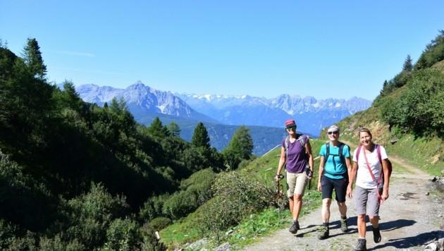 Wandern ist das wichtigste Urlaubsmotiv der Tiroler Gäste. Die Touristiker hoffen auf einen goldenen Herbst. (Bild: Andreas Fischer)
