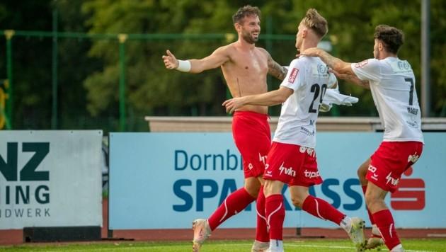 Lukas Katnik geht auch gegen Horn wieder auf Torejagd. (Bild: Maurice Shourot)