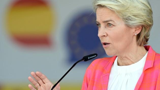 EU-Kommissionspräsidentin Ursula von der Leyen (Bild: AFP)