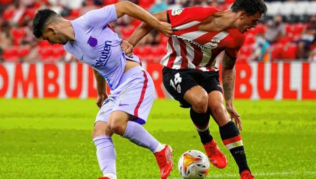 Yusuf Demir bei seinem Pflichtspiel-Debüt für den FC Barcelona im Auswärtsspiel gegen Athletic Bilbao. (Bild: AFP)