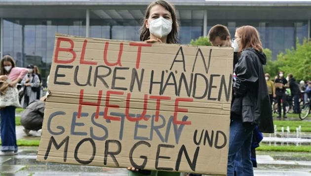 Demo in Berlin (Bild: AFP)