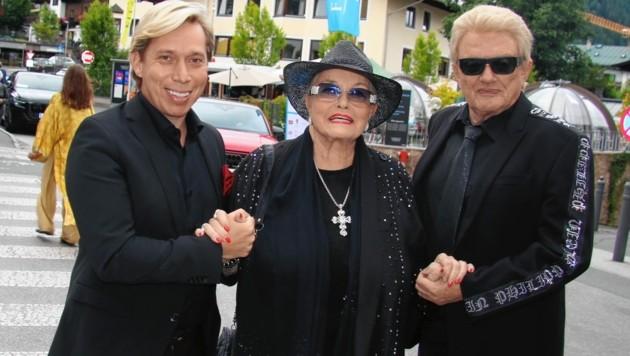 Gut im Geschäft: Heino mit Hannelore und Manager Helmut Werner (Bild: © 2021, Recka Hammann.)