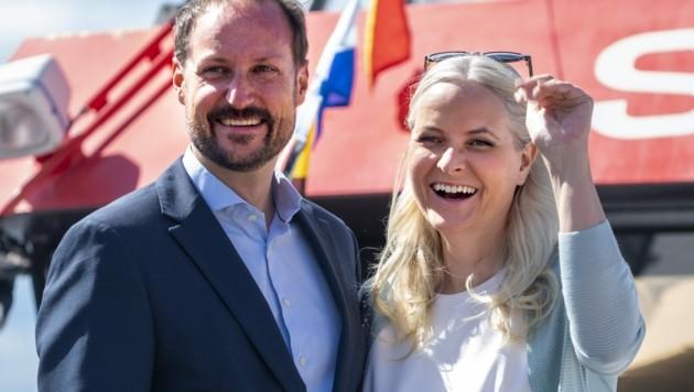 Norwegens Kronprinz Haakon und seine Mette-Marit feierten am 25. August ihren 20. Hochzeitstag. (Bild: Terje Pedersen / NTB / picturedesk.com)