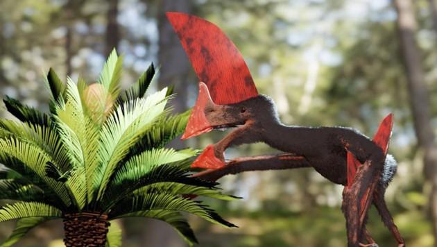 Künstlerische Darstellung: So könnte der Flugsaurier ausgesehen haben. (Bild: Victor Beccari)