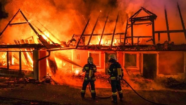 Brandeinsatz in Krusdorf (Bild: BFVFB/C. Karner)