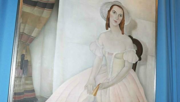 Melinda ist in der Ausstellung im Schloss als Primaballerina zu bewundern. (Bild: Reinhard Judt)
